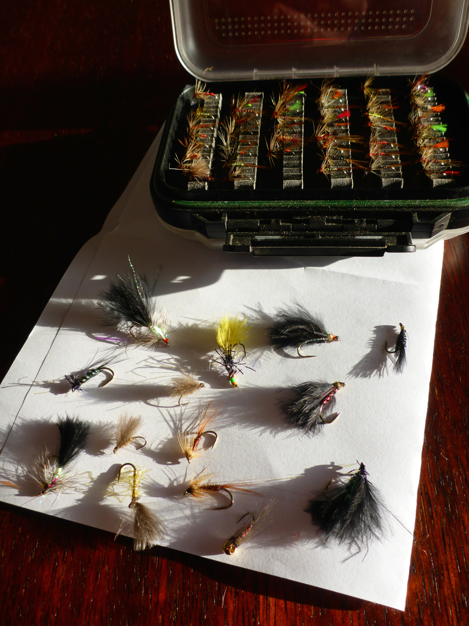 A few flies dad sent over for me..
