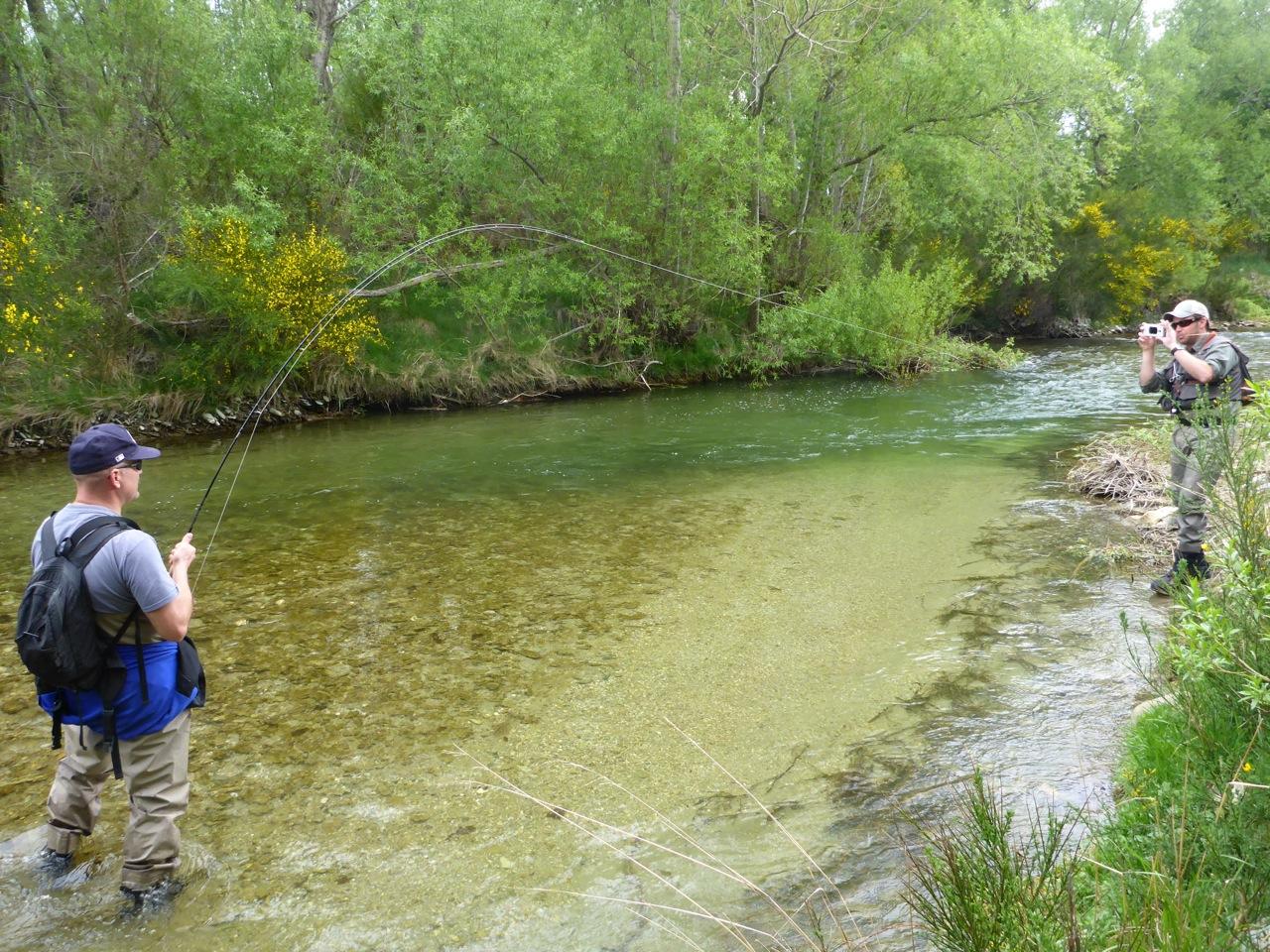 Matt into a solid trout..