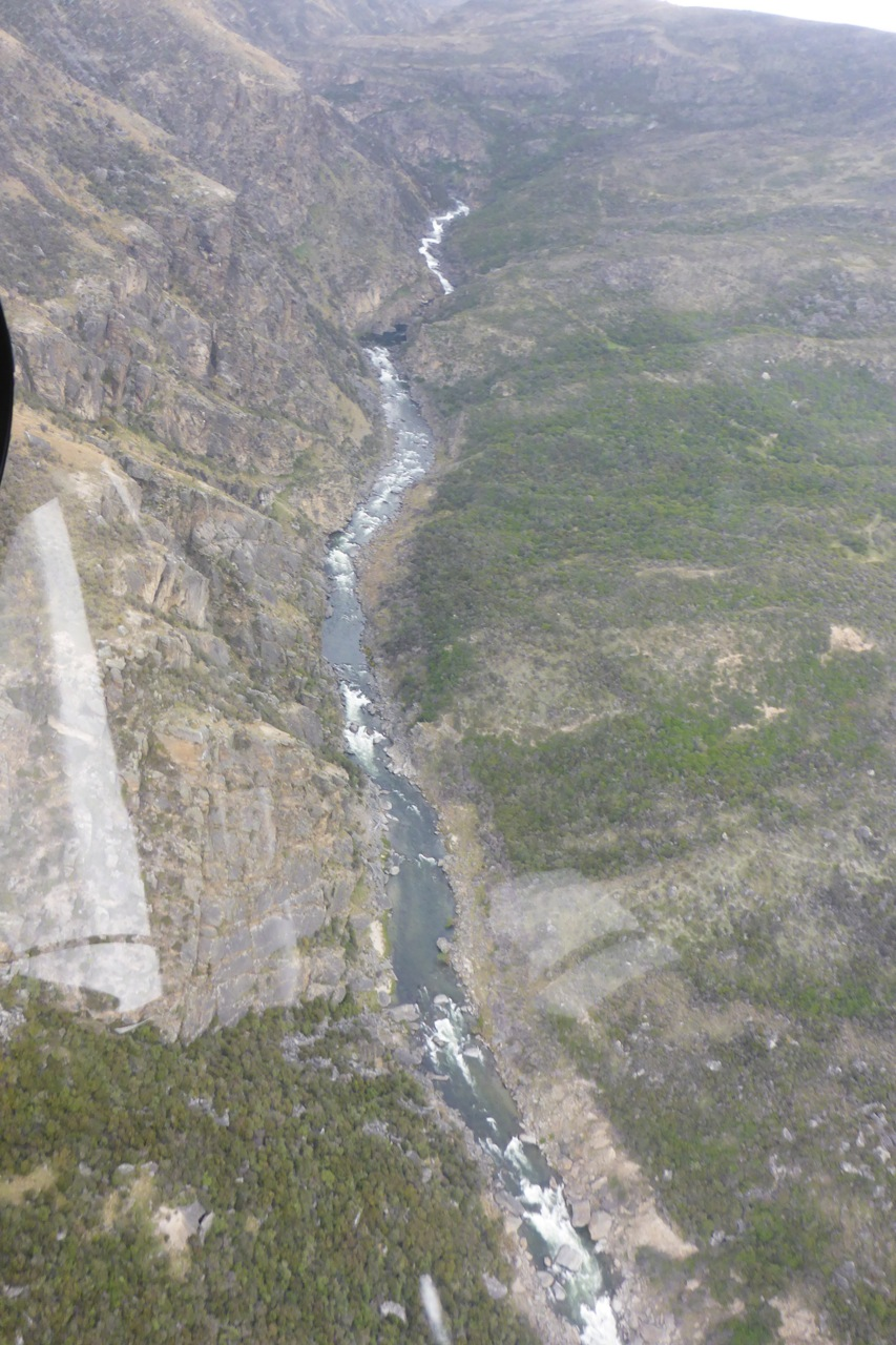A recent exploratory chopper flight, what a great way to view a river!