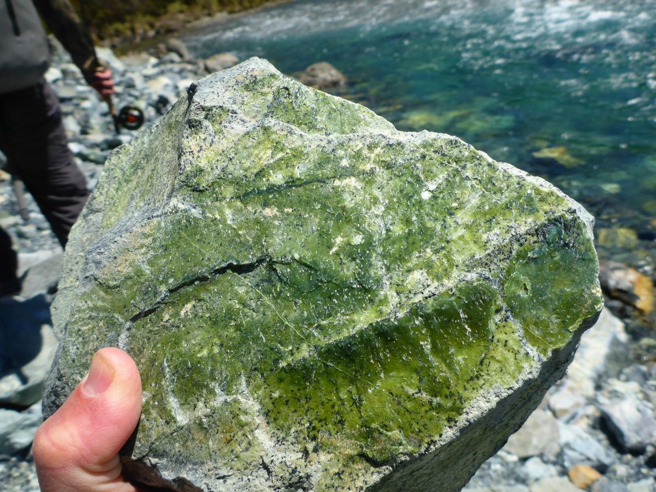 a vein of Greenstone I think..
