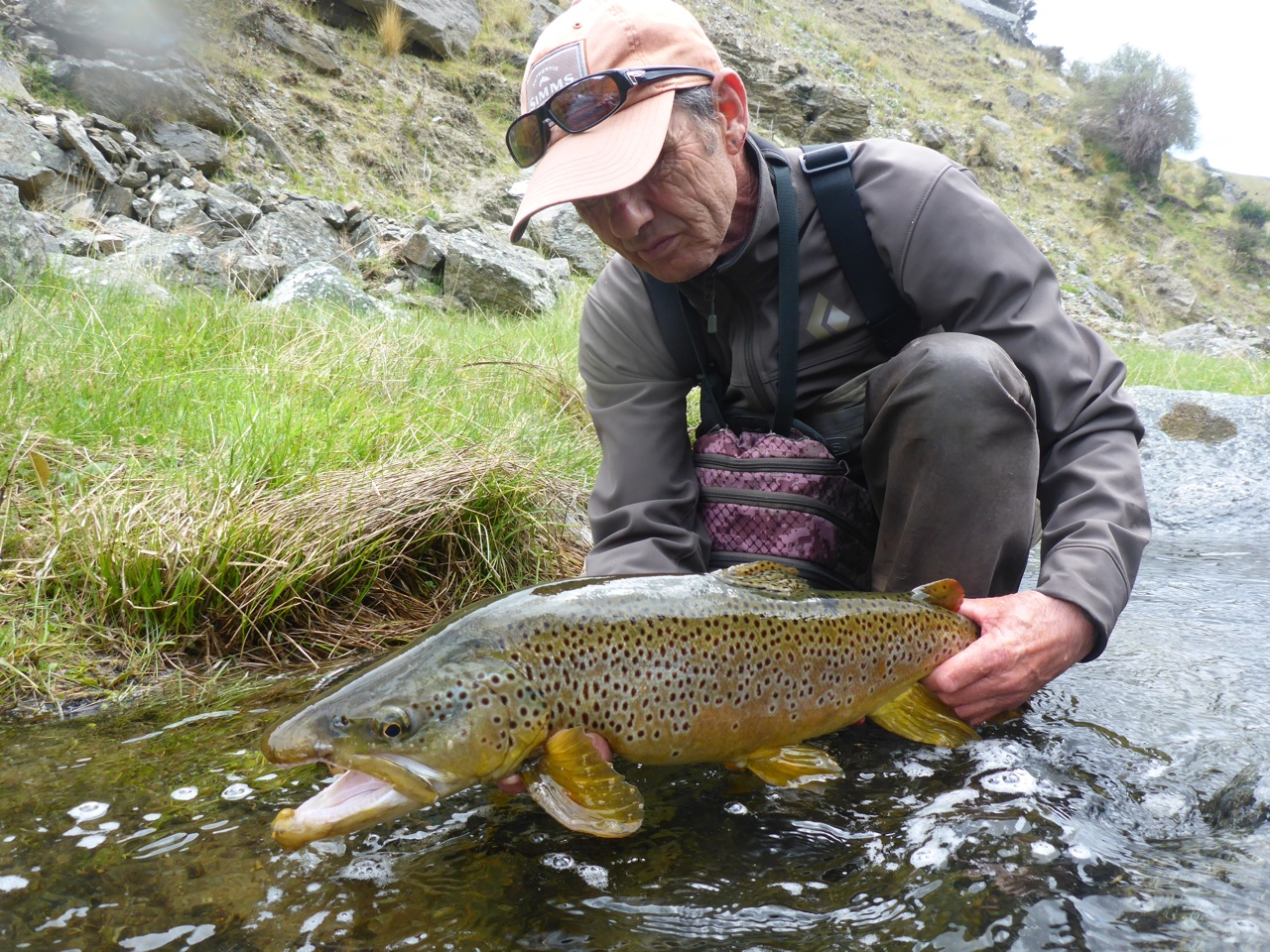 No stranger to big trout!