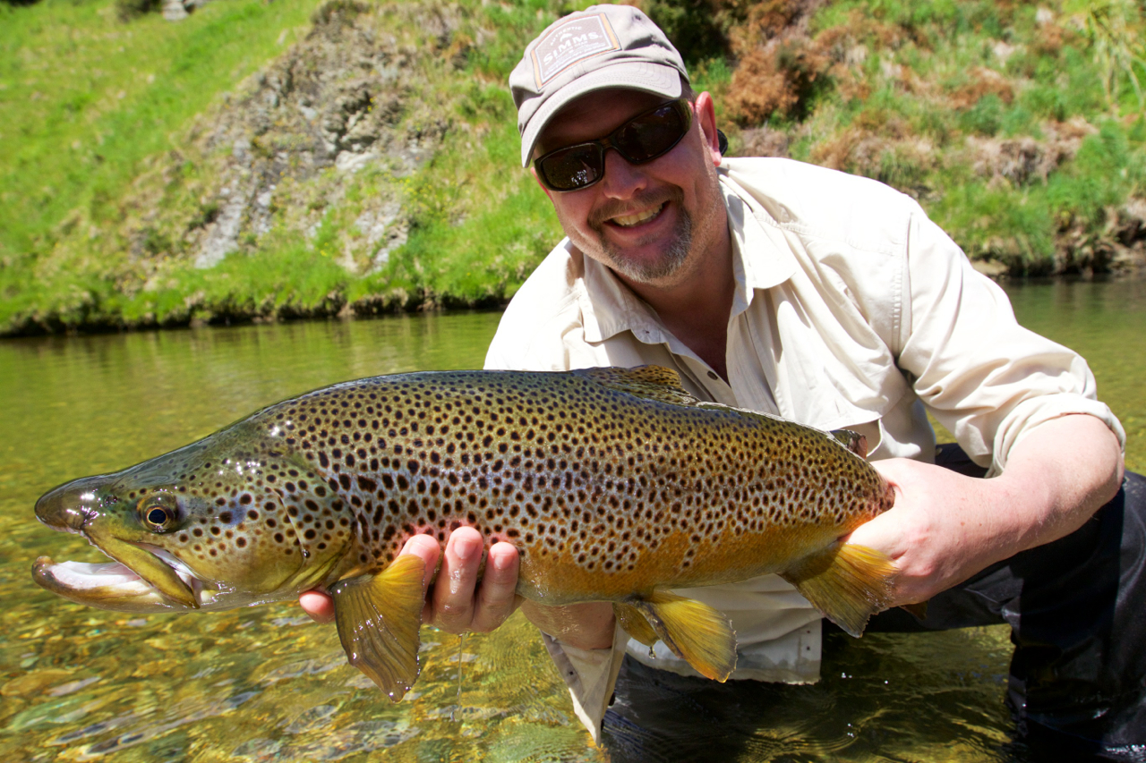 Gisle with 7.5lb brown..