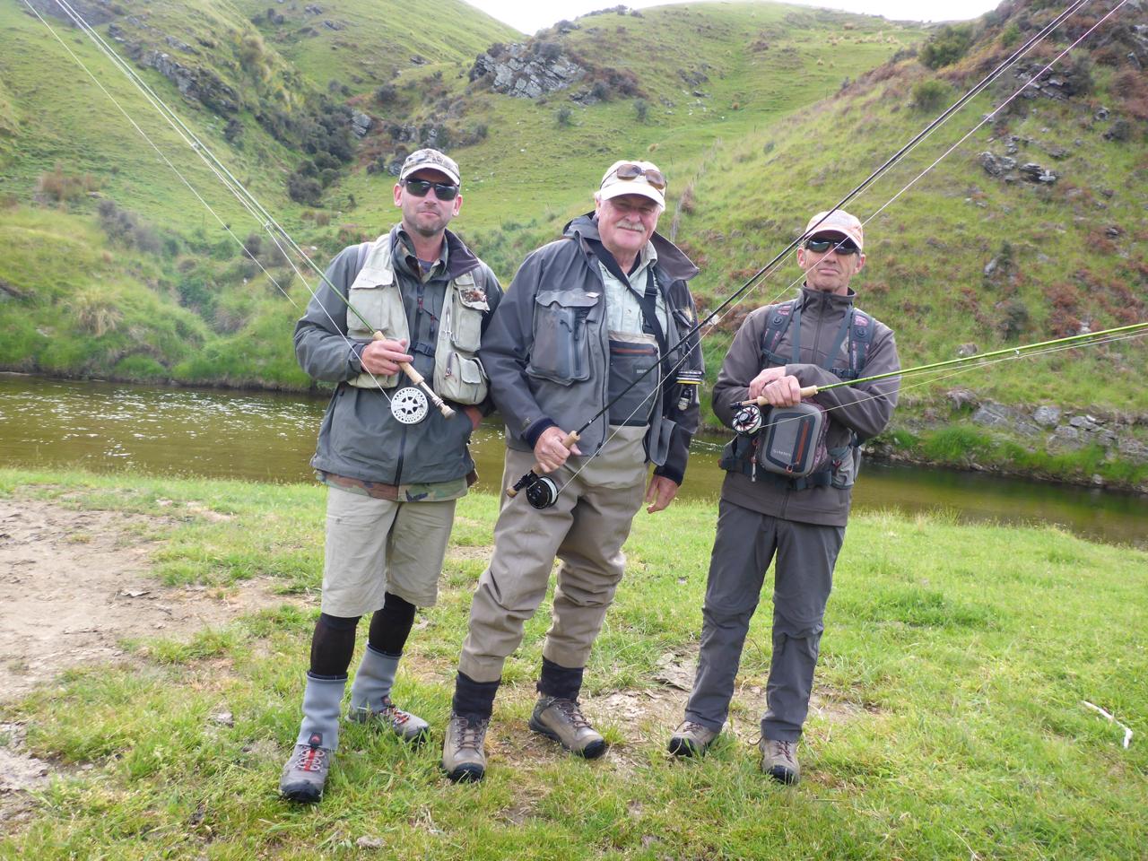 Fishing with Bob Wyatt and Robbie Mcphee..