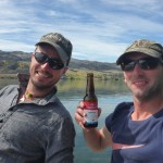 "Nico ""Arctic Char"" Foyle and myself on Christmas day.. fishing for dinner!"