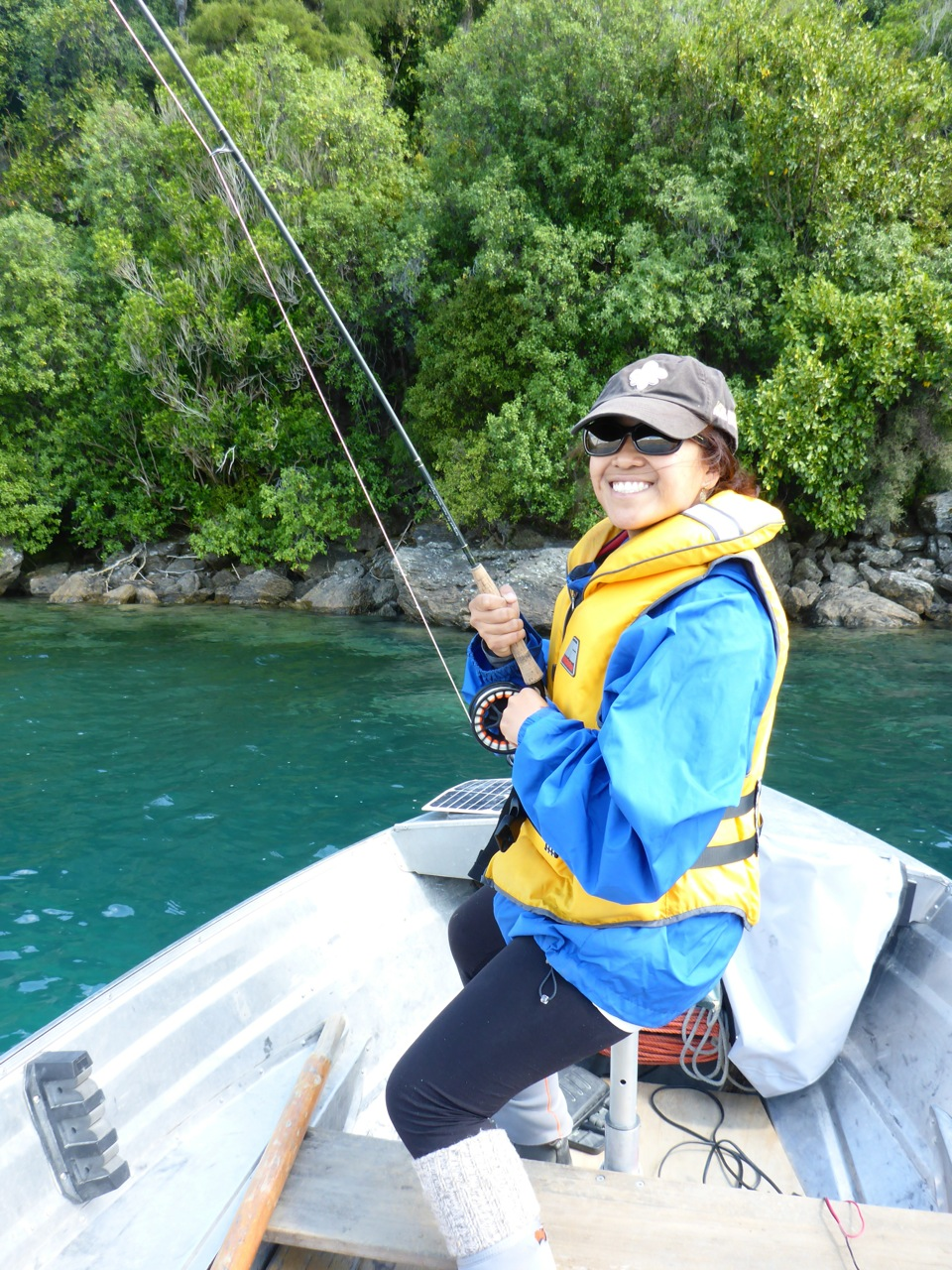 Lake Wakatipu cicada fishing can be fantastic! We had a good morning before the conditions changed for the worse. Iza got 4, I got 3!!