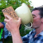 "Wesley Seery drinks from the piss pot.. its now tradition to drink from the ""cup""!"
