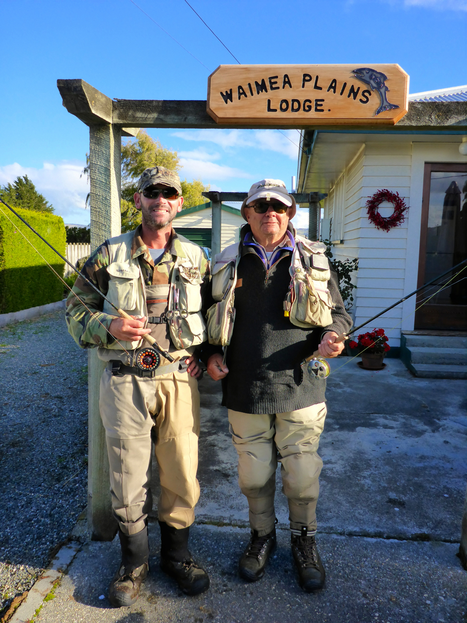 Bob Toffler and myself before we took on the Mataura..