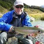 Chris with a healthy rainbow  during a fun day in the wilderness!