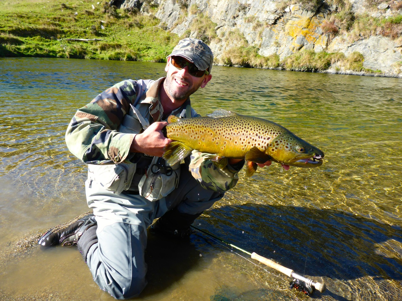 Although we managed a great fish each, The overall fishing was poor with very low numbers of trout about for our 2 days..
