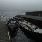 A dark and dreary morning on Kylemore Lough..