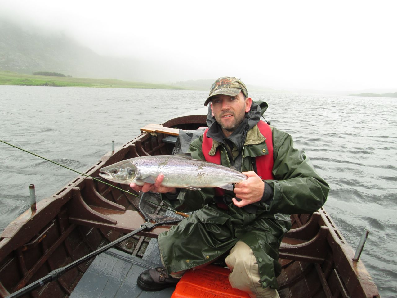 A stunning fresh grilse for me!