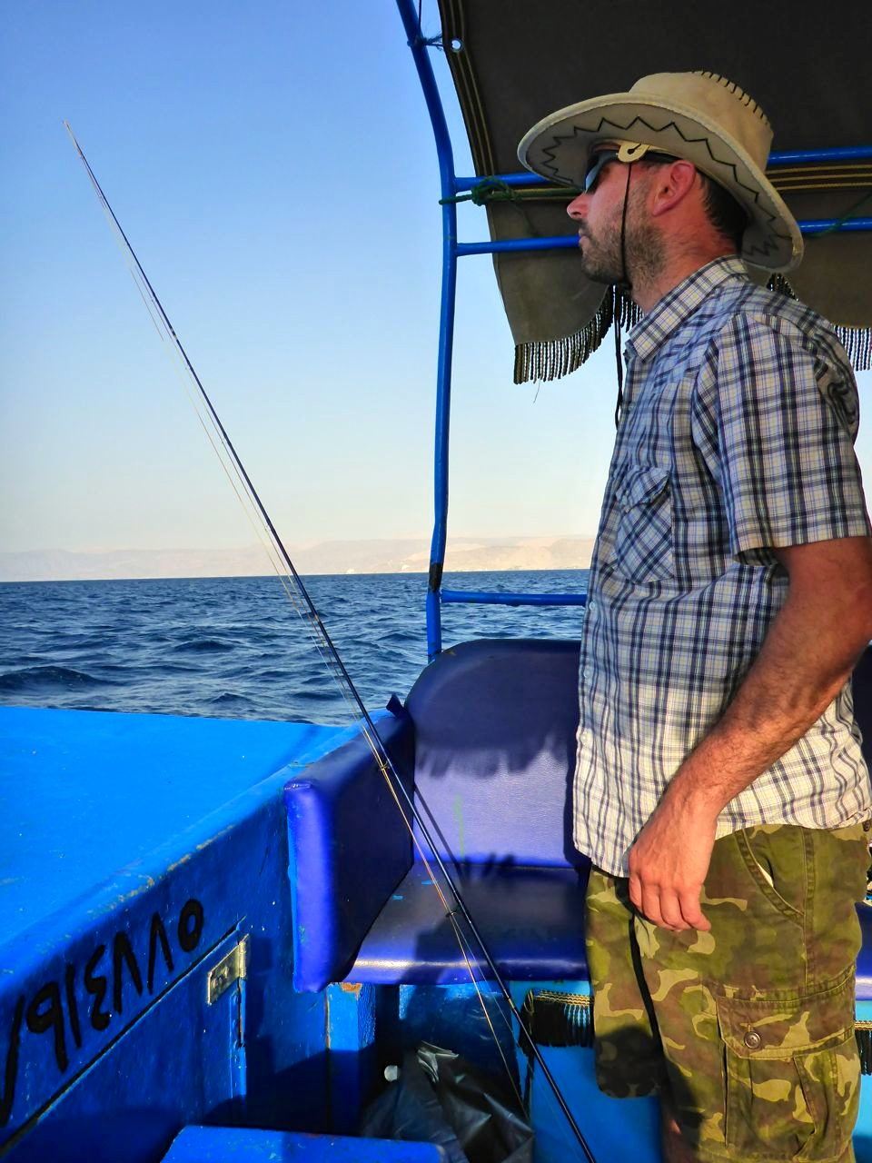 My only chance to fly-fish in Jordan after a week of snorkelling and diving..