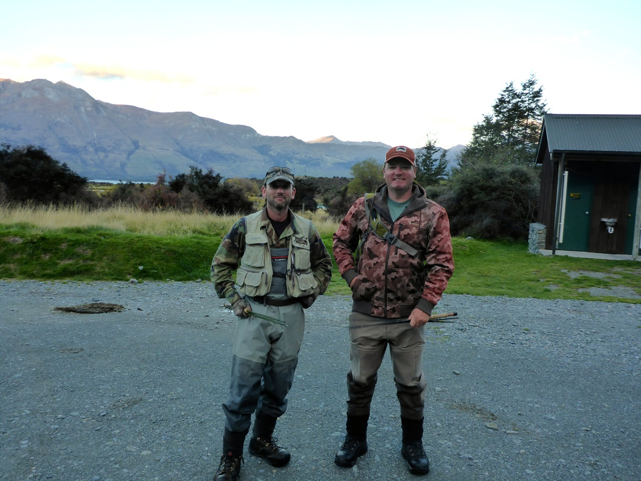 The start of a day in the wilderness with Chris Dore. We're looking for big fish!