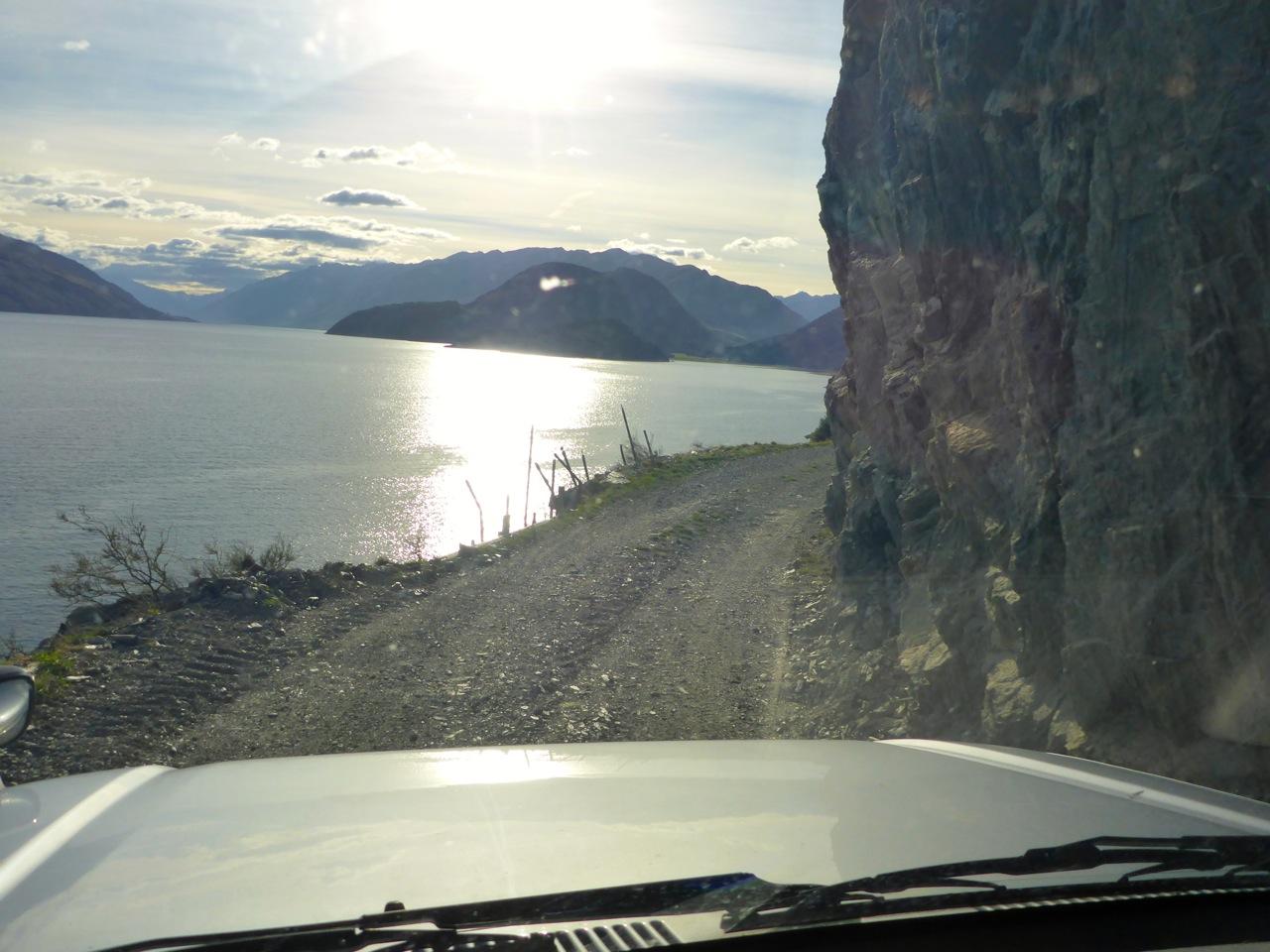 Sheer cliffs on the left!