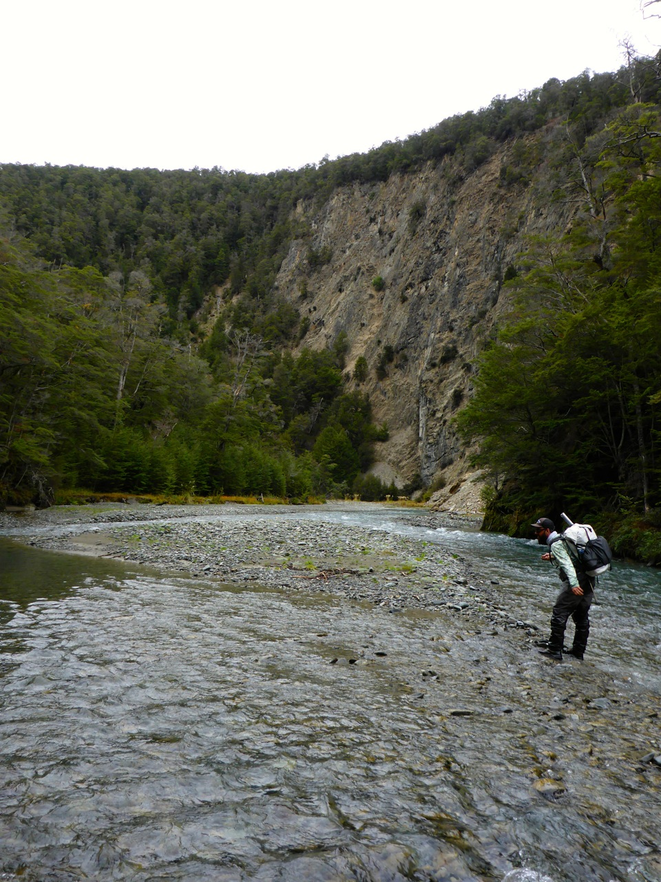Fast flowing, not much holding water on day one..