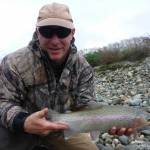 Shotgun-Kevin with a nice feisty May rainbow!
