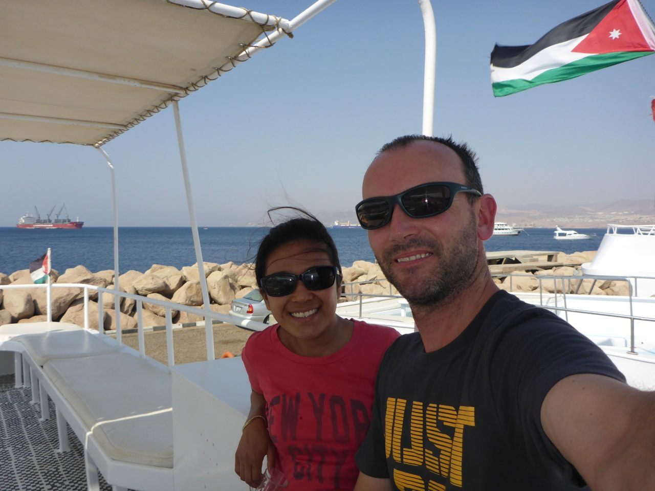 In Jordan! About to go Diving!