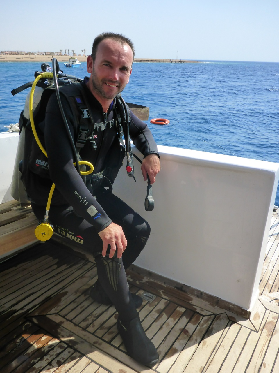 After the first dive.. Very happy!
