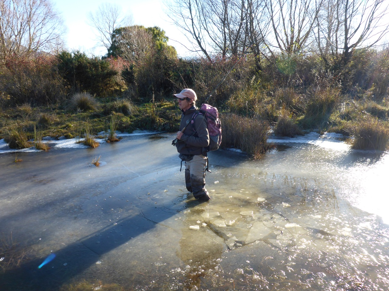 Robbie in thick ice..
