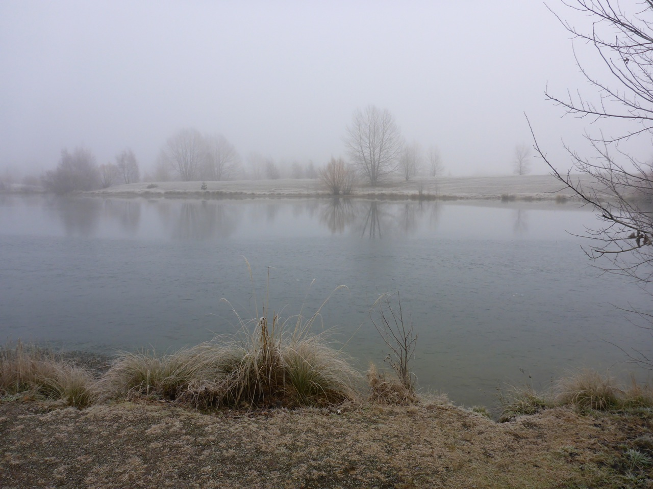 And foggy (Lake is frozen here!)