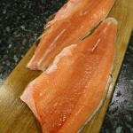 I kept my salmon. I think it was the tastiest salmon I've ever eaten! Just seasoned and panfried in butter.