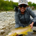 Iza and I had a great time on the river yesterday. She landed the best fish of the day! Stunning.. Nice fish too!! :D