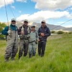 Dad, Robbie, Me and Iza.. Still water fishing!