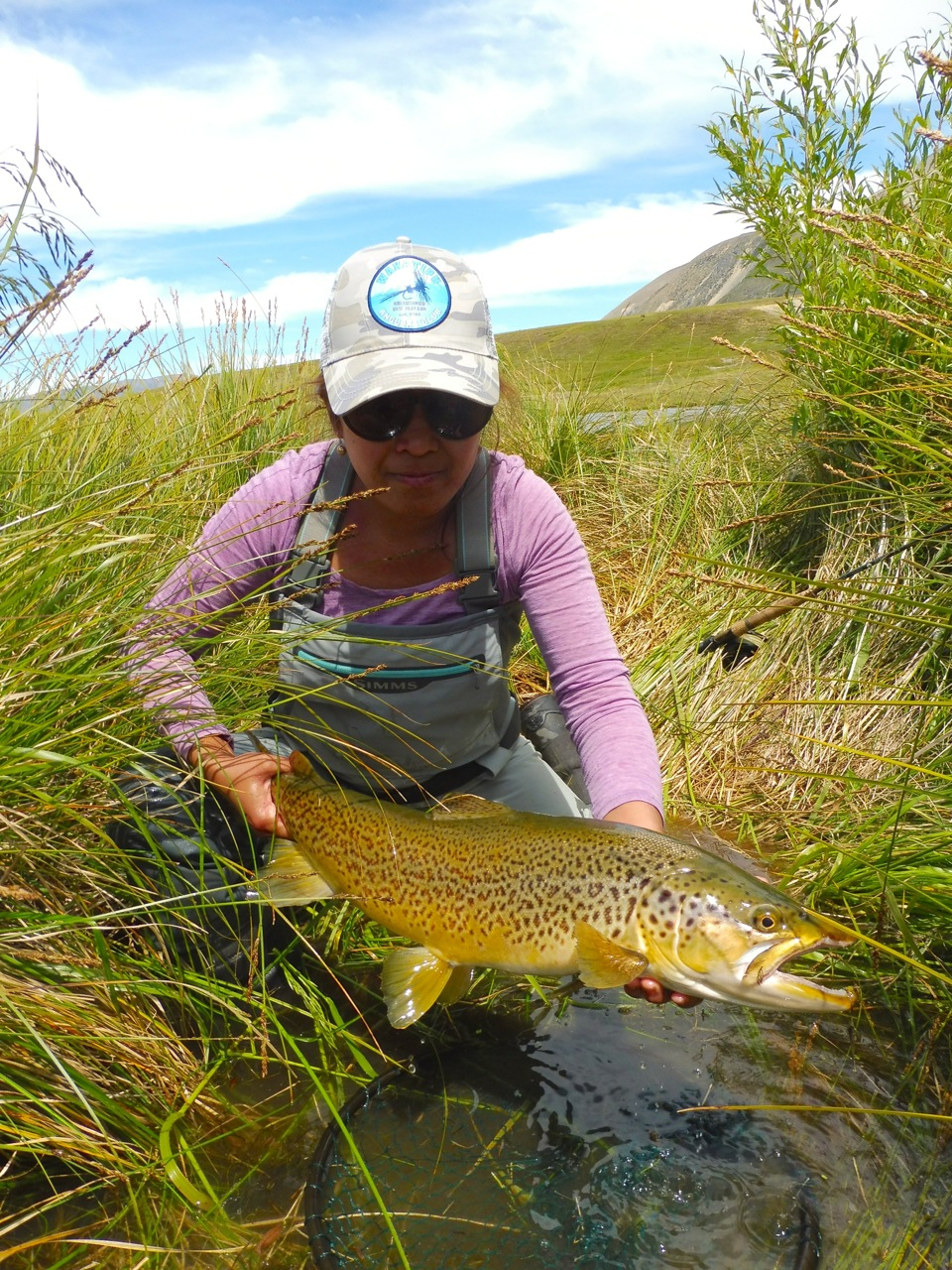 A new personal best for Iza, 7.25lbs on 4.4lb (5x) tippet. No mean feat!