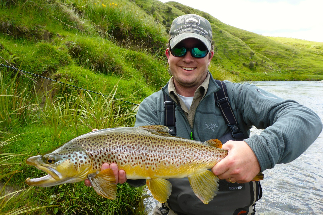 Hunter worked hard for this fine brown trout!