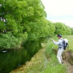 Dikran into a great fish under the willows. We had a ball here!
