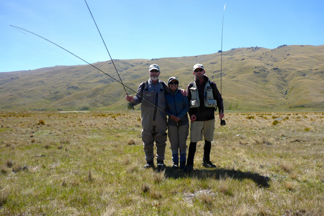 Dad, Iza and myself.. A high country visit for a big trout!