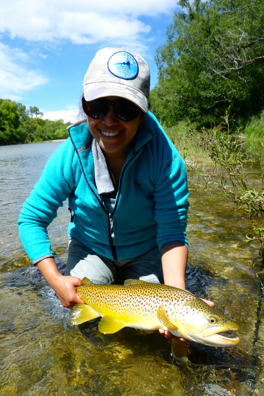 Iza takes the fish of the day today!!