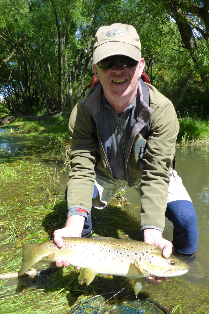 Philip with a great fish in the first pool of the day!