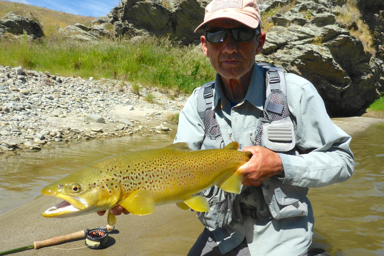 An exceptional fish from this river hitting the scale at 6lbs.