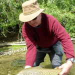 Rick with a great result during a day out experiencing technical, demanding river fishing!