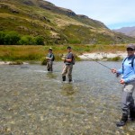 Austin, Andy and Kevin during a half-day trip ex Wanaka. Casting tuition to start!