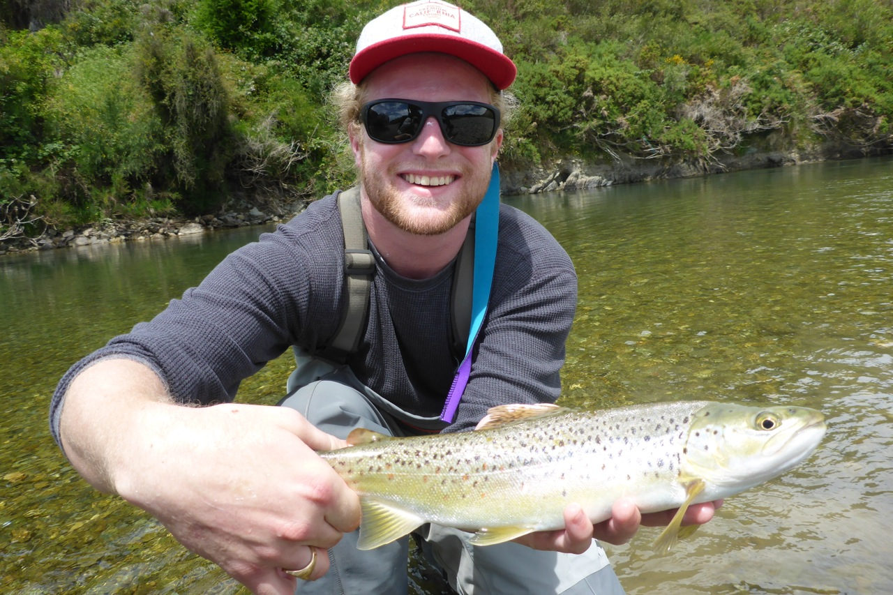 Total beginner, Peter with a nice trout! Well played from cast to net!!