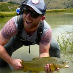 Rutger also never cast a fly before. He did well to make a neat presentation to this fish and catch it on one of Stu's Banana flies! It's an achievement to land a fish on fly on day 1!