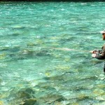 Tom on his first day fly fishing..
