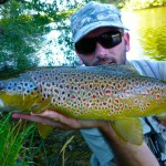 Some great reds spots on these fish. The river beats we spent 1.5 days on were extremely tricky! No easy casts from long grass, thistles, willows, high banks etc.. The challenge made it some of the most fun fly fishing I've had in a while.. Plenty fish to the net.