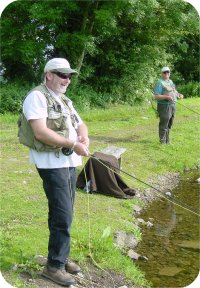 Chris and Peter discuss flyfishing tactics and whether the pub would be a better option