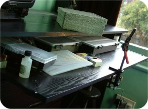 A well organised and tidy bench - obviously not Ben's