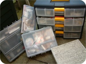 Boxes and drawers - good organisation is at the heart of any flytying campaign