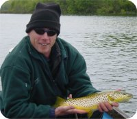 Paul and a beautiful Corrib brown trout
