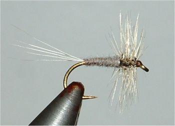 3 pieces grey CDC-Duster Fliegentom dry fly