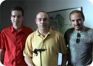 First class flytyers from Spain, left to right Patxi, Paco and Martin