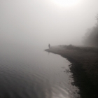 Early morning mist on Bewl, fishing with Sean.