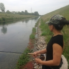 Ashly's last day, fishing the canal in Croatia