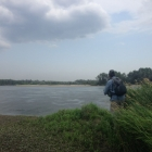 Fishing the Drava during a storm