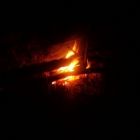 A campfire that I spent time with while Ash cooked Toman. Unfortunately it started raining before Ashly had finished cooking. Still, I enjoyed it!